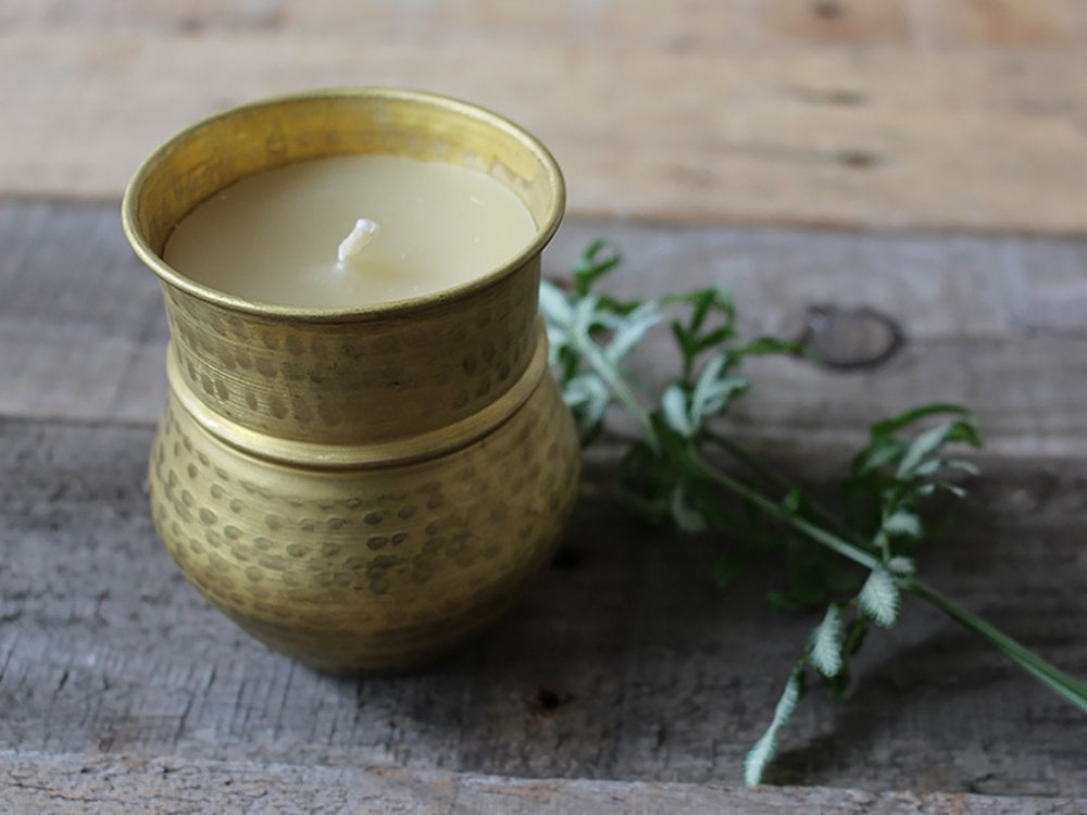 Handmade Himalayan Beeswax Candle - Chaccra